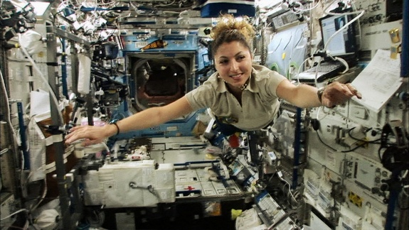 First Female Space TouristCredit: Documentary ChannelIranian-American entrepreneur Anousheh Ansari became the first female space tourist when she funded her own way to the International Space Station aboard a Russian Soyuz space capsule in 2006 through the firm Space Adventures.  via space.com