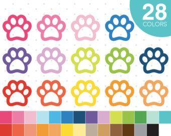 Patte de clipart clipart patte de chien Paw par JSdigitalpaper