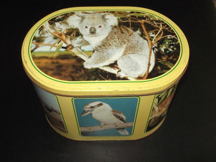 Cute Arnotts tin with Australian Animals