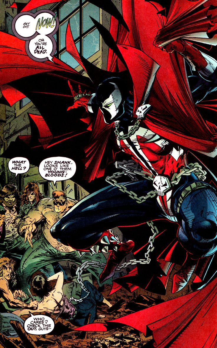 Spawn #1 (May 1992) by Todd McFarlane, colors by Steve Oliff