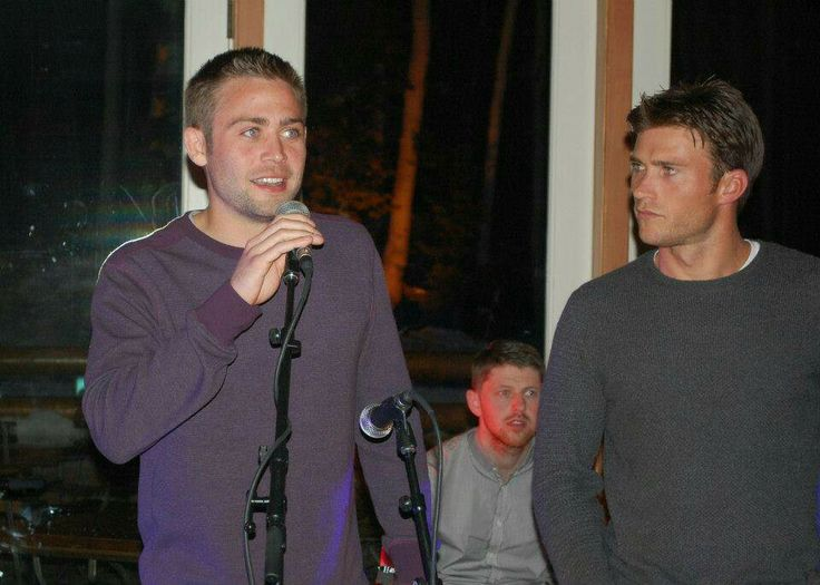 Cody Walker speaking at the Poker tournament to support ROWW