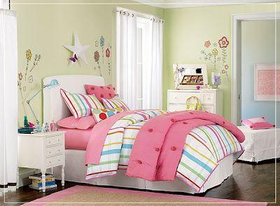 habitación con rosa niña adolescente