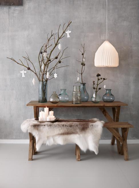 Scandinavian modern minimalist xmas decor