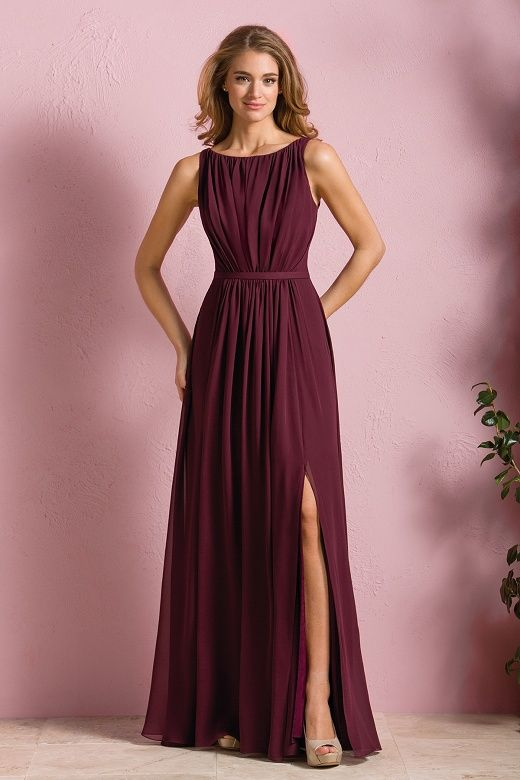 Red wine flower girl dresses