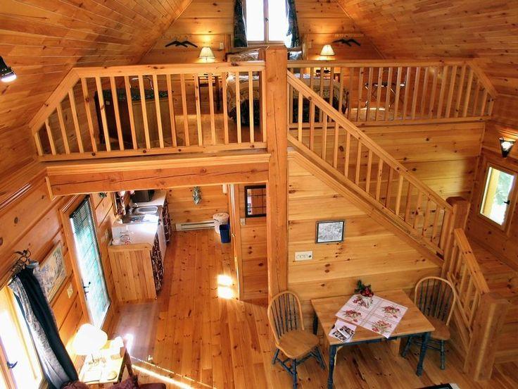 Cabin Loft Bedroom Log Cabin with Loft Bedroom, sm…