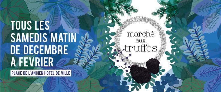 Création des affiches du Marché aux truffes pour la ville de Périgueux