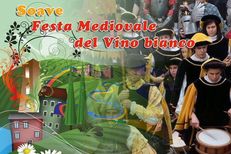 2017 - Festa Medievale del Vino Bianco -White Wine Medieval Festival , May 19-21, in Soave, about 23 miles west of Vicenza; May 19-20 starts at 7 p.m.; food booths feature local products and local white wine; medieval entertainment; live music starts at 9:30 p.m.; May 21, 9 a.m.-7 p.m., antique market and exhibit and free tasting of local food and wines; re-enactment of typical Medieval life with craftsmen, artists, musicians, flag-flyers, stilt walkers, jesters, fire eaters and knight…