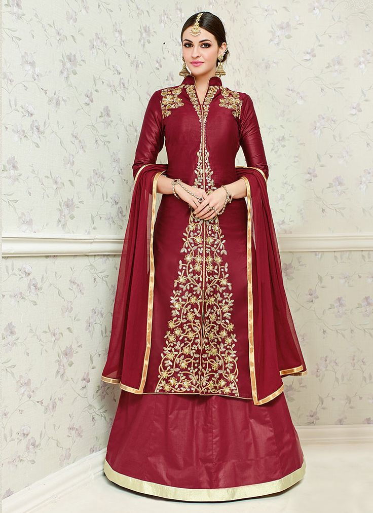 Buy Maroon Cotton Long Choli A Line Lehenga online from the wide collection of a-line-lehenga. This Maroon colored a-line-lehenga in Art Silk   Blended Cotton fabric goes well with any occasion. Shop online Designer a-line-lehenga from cbazaar at the lowest price.