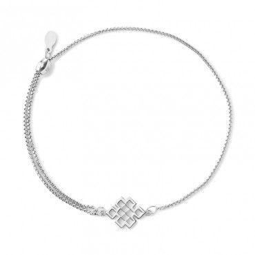 endless knot pull chain bracelet | gold | alex and ani | wisdom • compassion • destiny