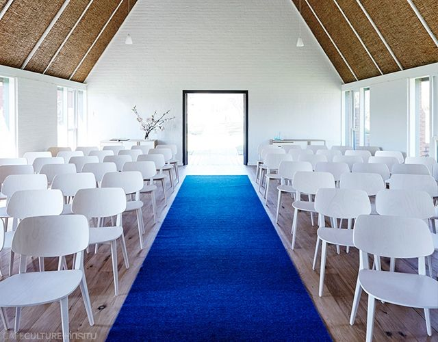 TOORAK COLLEGE CHAPEL - Cafe Culture + Insitu - To commemorate its 40th anniversary, the Nexus Designs Interiors team transformed the interior of Toorak College Chapel into a 21st century space for reflection and celebration. Doll chairs in bleached beech by Billiani. Photography by James Geer.
