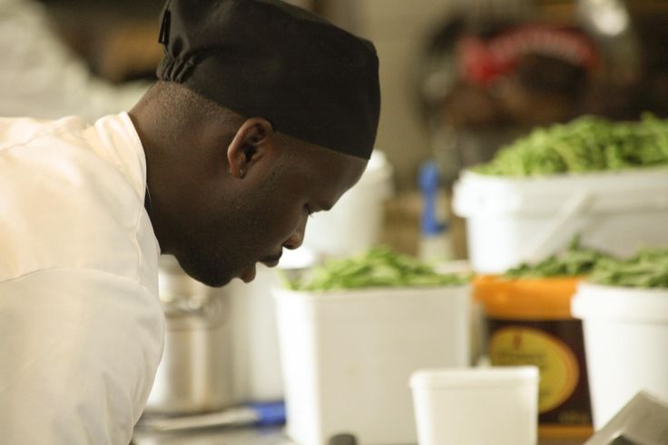 Our Chef's busy preparing a scrumptious meal!
