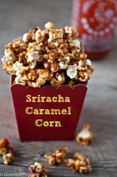 Sriracha Caramel Corn ~ Popcorn with a kick ~ Ingredients needed:     1/3 c corn kernels (makes 7 cups popped), 1 brown paper lunch bag,  ½ c brown sugar, 4 T unsalted butter, ¼ c light CORN SYRUP, ¼ tsp salt, ½ to 1 tsp sriracha, pinch cayenne. #Recipe #CaramelCorn