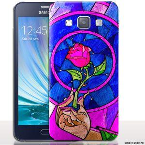 Coque de Galaxy A3 Belle et La Bete - Pour Samsung SM-A300. #Coque #Samsung #A3 #Disney #Belle #Bete #A300 #galaxy #case #cover
