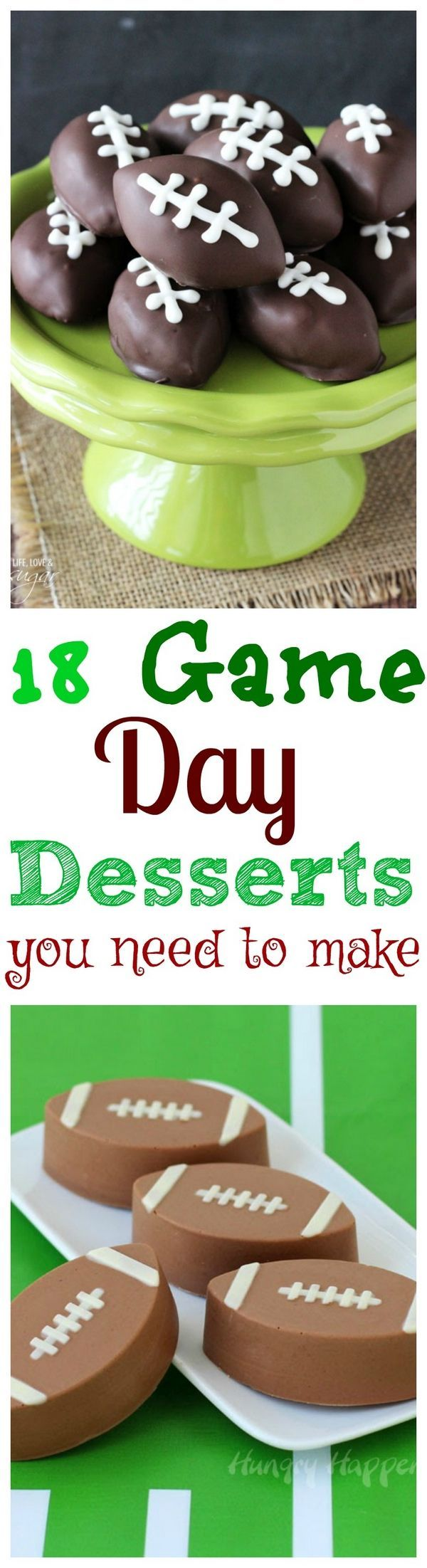 18 Game Day Desserts that are so cute, you will forget about Football.