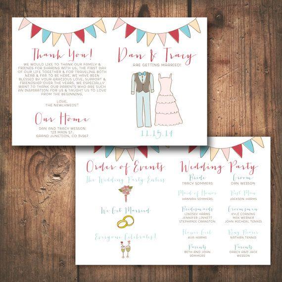 Wedding Program DEPOSIT - DIY, PRINTABLE - Rustic, Modern, Hand - wedding program inclusions
