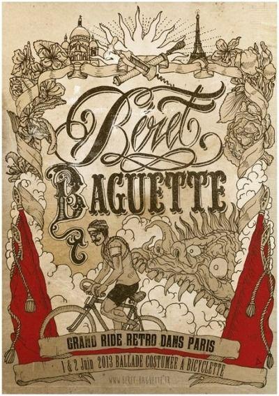 Dimanche 2 Juin 2013 aura lieu la « Balade » du Béret Baguette. Le rendez vous est fixé à 10h place de la Sorbonne. Départ à 11h, tous les participants seront en tenues de l'entre-deux-guerres, accompagnés de leur bicyclette rétro. Celles et ceux qui n'ont pas de vélo ancien, sont les bienvenus mais il leur sera demandé d'être en tenue rétro et si possible d'accessoiriser leur monture. Le parcours fera environ 10 km, à travers les rues de la capitale, et finira par un grand pique nique.