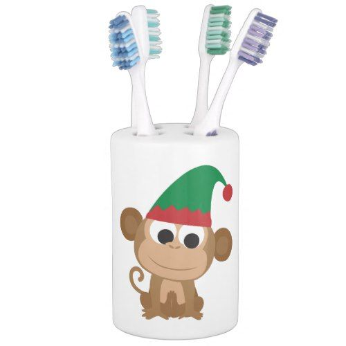 Christmas Elf Monkey Bathroom Set