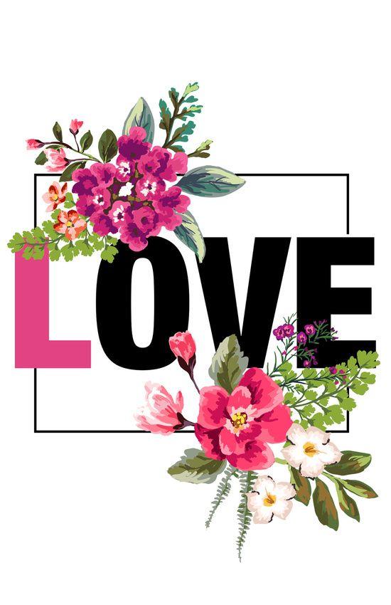 Floral Love Art Print