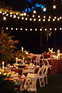 15 best lights in backyard trees over pool over outdoor dining your wedding support let there be light fairy lights candles wedding mozeypictures