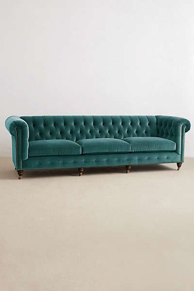 Anthropologie - Grand Lyre Chesterfield Sofa