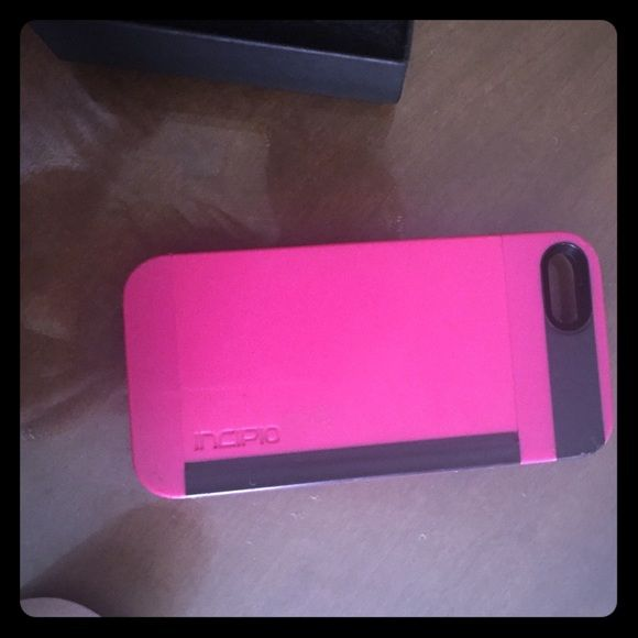 I phone 5 case . Made by InCipio Paid $50 for it This is a really nice iPhone case. It prevents any breakage. Purchased at AT&T. IPhone 5 broke. Now I have a six and it will not fit. Great deal someone grab it.💘🎈🎉This is a Otter box . INCIPIO Accessories Phone Cases