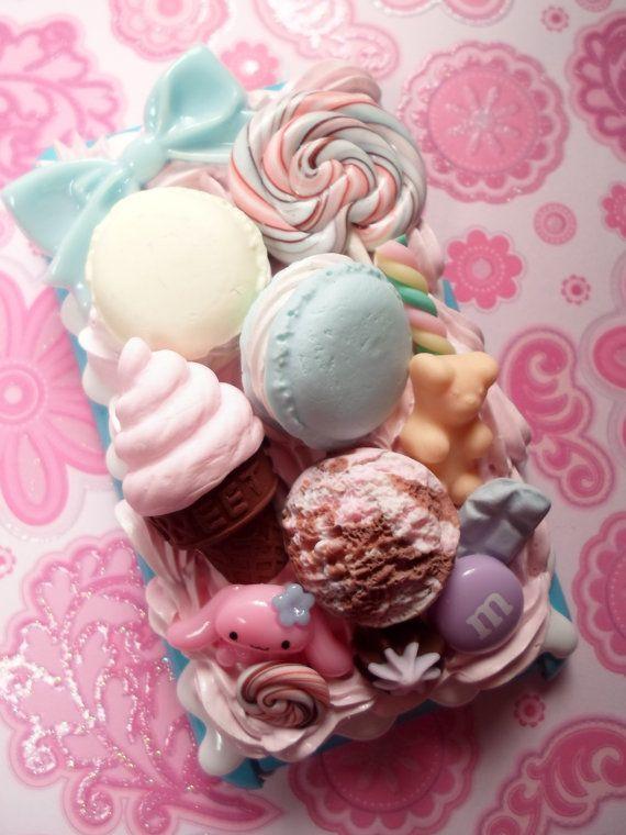 Cinnamaroll Pastel Ice Cream Party Kawaii Decoden by Lucifurious, $35.00