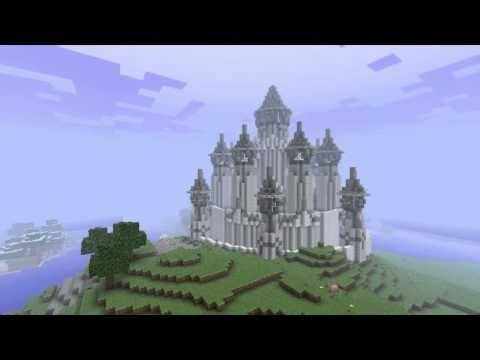 Minecraft nagy kastély építése - YouTube