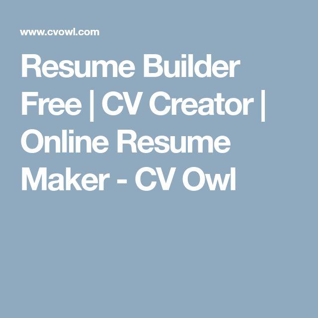 The 25+ best Online resume builder ideas on Pinterest Free - usajobs online resume builder