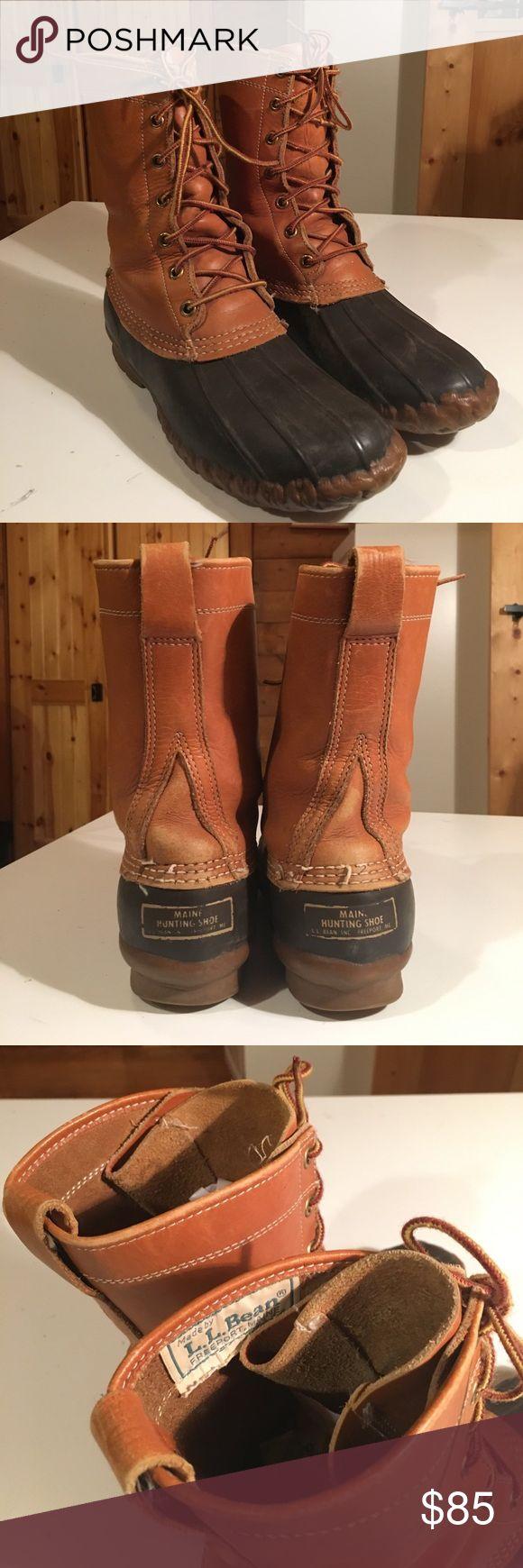 "Vintage LL Bean Duck Boot Vintage ""Maine Hunting Shoe"" LL Bean Duck Boots. Size 9. LL Bean Shoes Winter & Rain Boots"