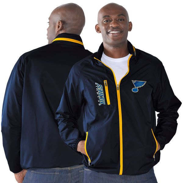 St. Louis Blues G-III Sports by Carl Banks Game Plan Full-Zip Jacket - Navy - $74.99