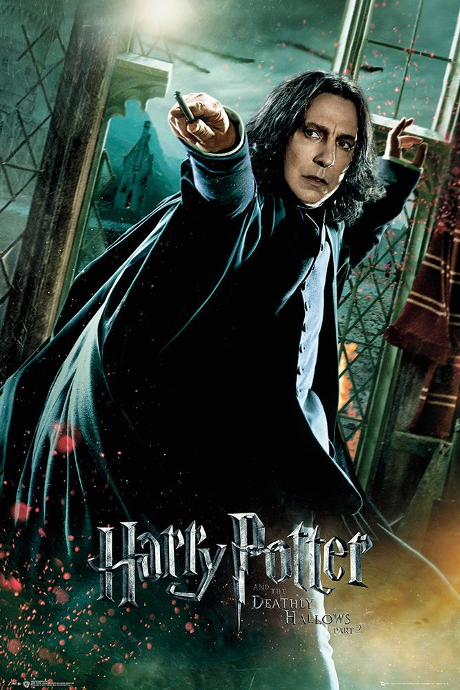 c163edfe80e HARRY POTTER AND THE DEATHLY HALLOWS - MOVIE POSTER (PROFESSOR SNAPE 1)