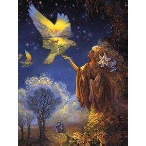 "Josephine Wall kaart ""Winged Vision"""