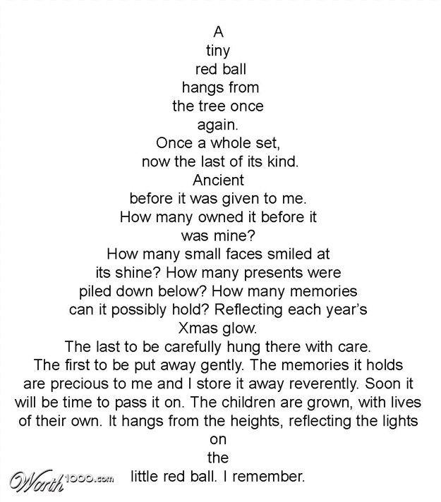 Poem About A Christmas Tree: Christmas Tree Shape Poem - Google Search