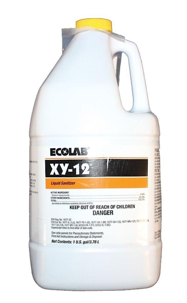 Ecolab Xy 12 Liquid Sanitizer Gallon Bottle Qty 4 Ebay Link