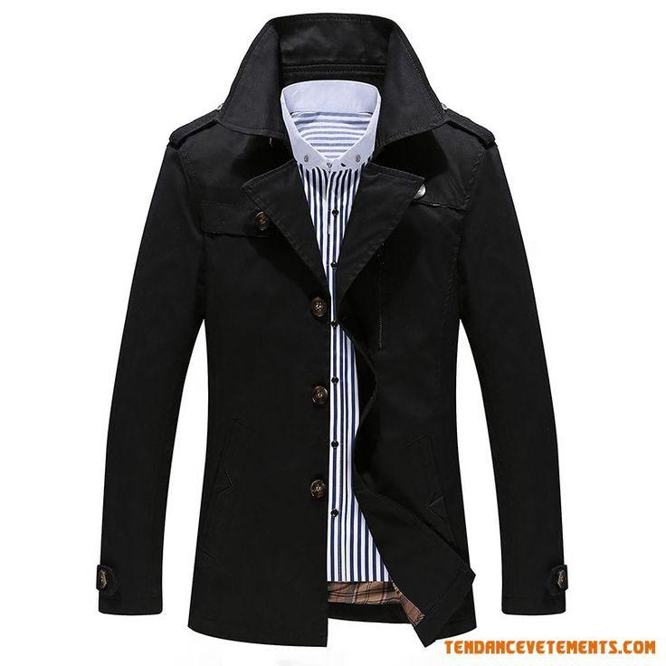 Manteau homme noir solde