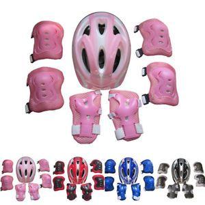 a 7 unidades juego ninos skate bicicleta casco de seguridad rodilla codera