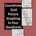 Coordinate Grid Picture Graphing in Four Quadrants - three different, unique pictures:  duck, polar bear, and rocket ship. $