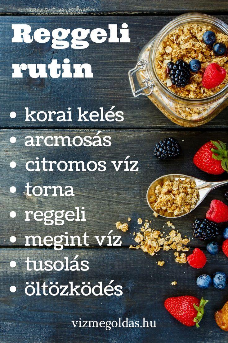 Egészséges reggeli - Reggeli rutin