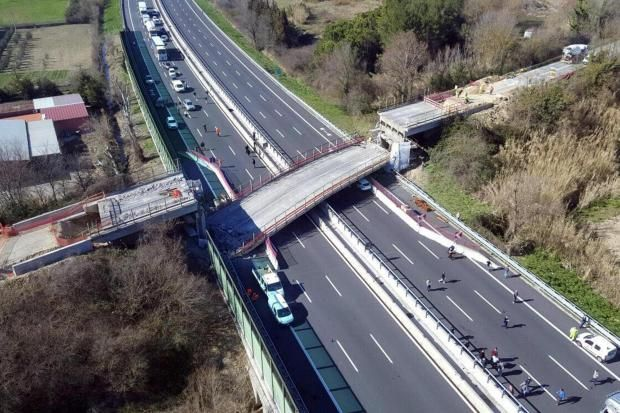 Two people have died and two others injured after a highway bridge has collapsed near the north-east Italian city of Ancona, Italian