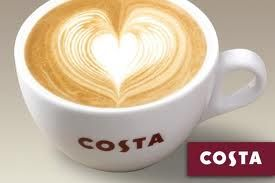 costa coffee for being open on a Sunday afternoon.