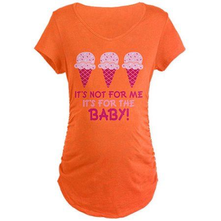 Cafepress Funny Ice Cream Quote Maternity Dark T-Shirt, Size: Medium, Orange Cafepress Funny Ice Cream Quote Maternity Dark T-Shirt, Size: Medium, Orange