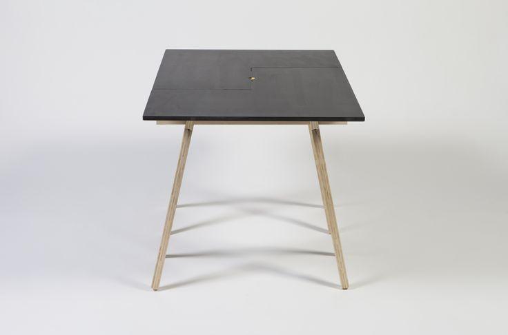 Monolith table top on CHOPSTICK sawhorses. Julian Kyhl