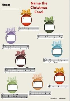 Christmas Carol Activities for your Music Class There are THREE class activities based on Christmas Carols $