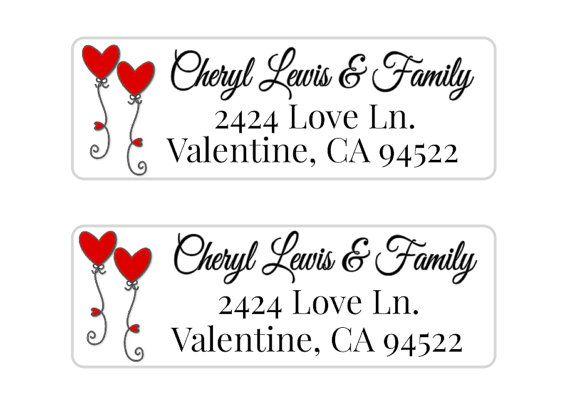 24 STICKERS Valentine Address Label Kids by MoonLitPrintables