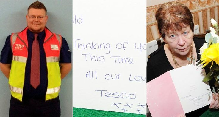 Tesco staffwent above and beyond when theyheard that one customer had cancelled half her order due to her husband's death.  Linda Heald, 66, had ordered a big shop ready for her and husband David's wedding anniversary, but phoned to cut it down when David suffered a fatal stroke the day before they