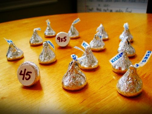 Multiplication Concentration with a sweet twist...could do this for add/subtract too: Math Games, Memories Games, Numbers, Multiplication, Math Facts, Hershey Kiss, Math Activities, Matching Games, Halloween Math