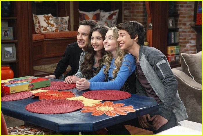 "#GirlMeetsWorld 1x17 ""Girl Meets Game Night"" - Cory, Riley, Maya and Josh"