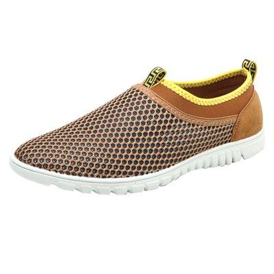 Мужские летние туфли из дышащего материала, размеры до 47