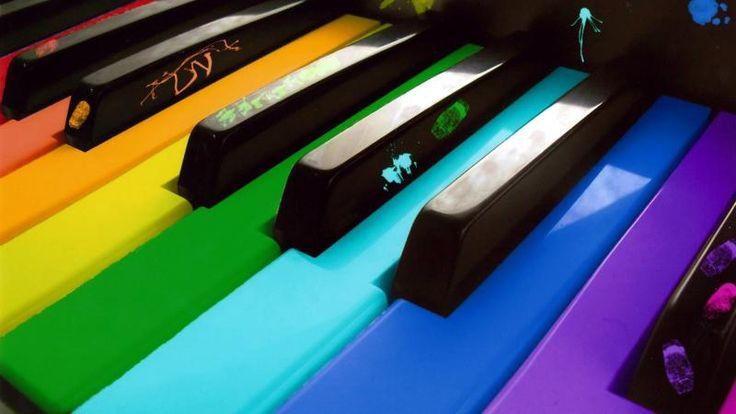 Colorful Piano Keys