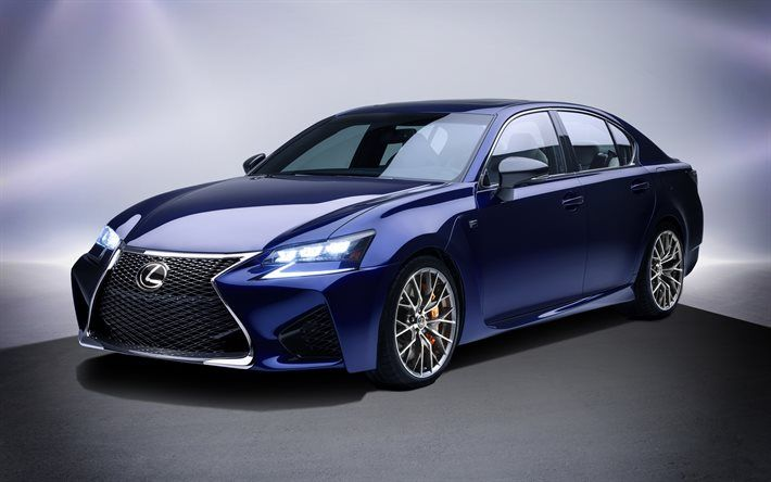Lexus GS F, 2017, luxury cars, blue Lexus, sedan